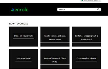 Enrole Zendesk support screenshot